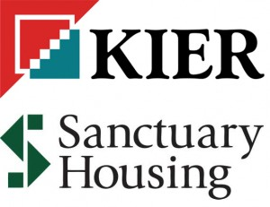 Kier Living and Sanctuary Housing logo. jp-transport-highway-consultant.co.uk provides transport and highway advice for Kiers